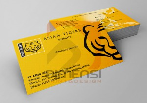 kartu nama name card asian tigers percetakan dimensi