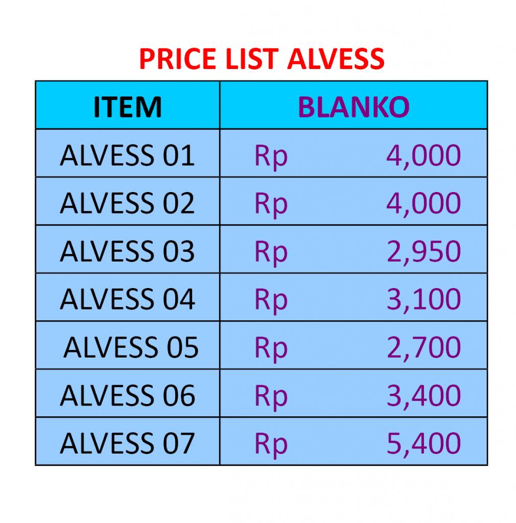 Daftar Harga Kartu Undangan Alves