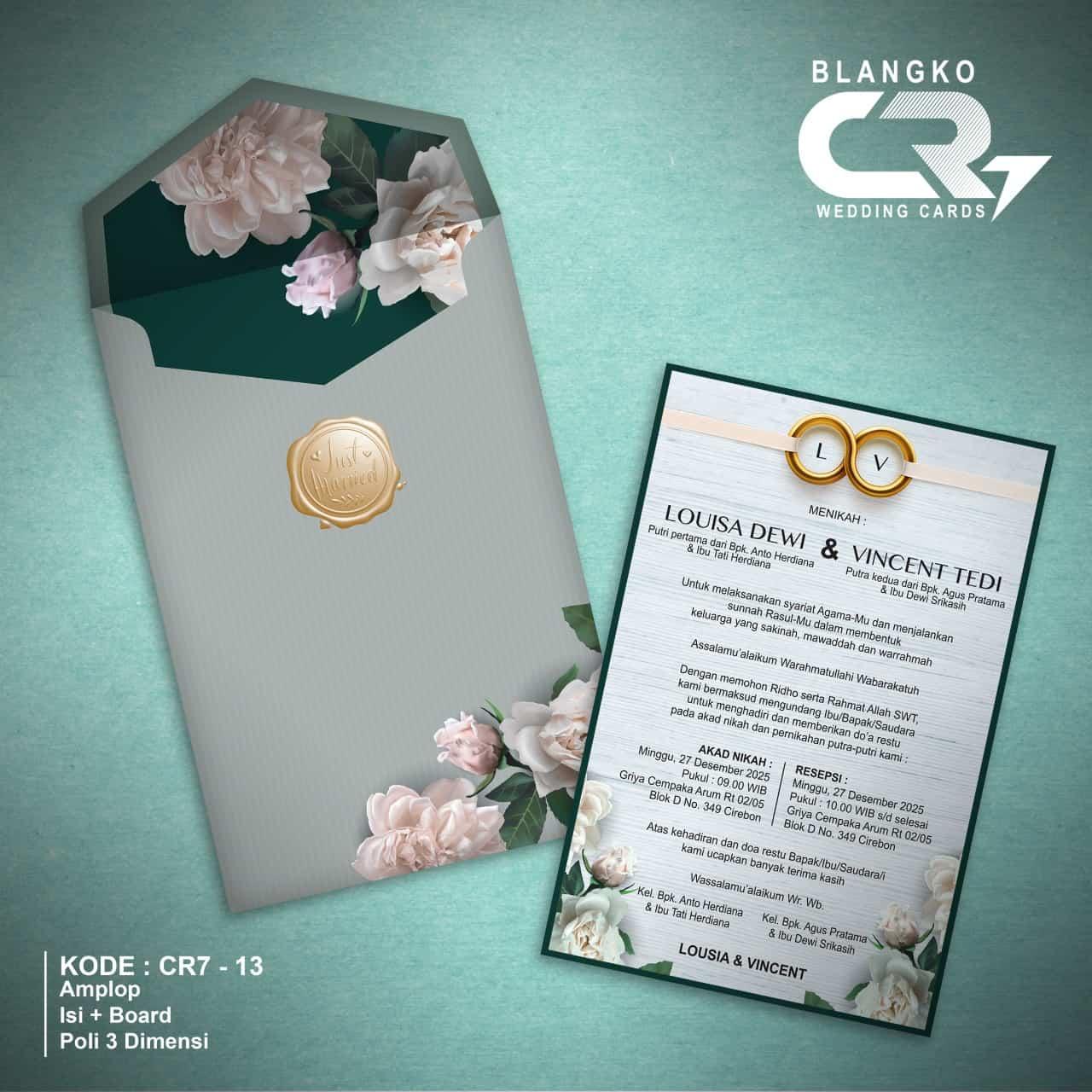 Jual Blanko Undangan Pernikahan Harga Murah