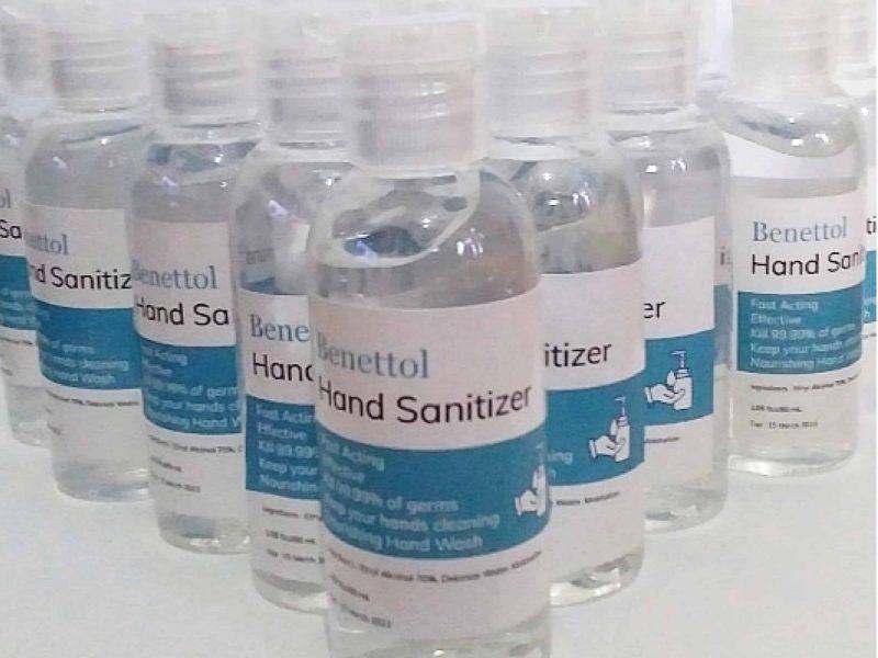 Jasa Cetak Label Stiker Botol Hand Sanitizer Pandemi Corona Covid-19