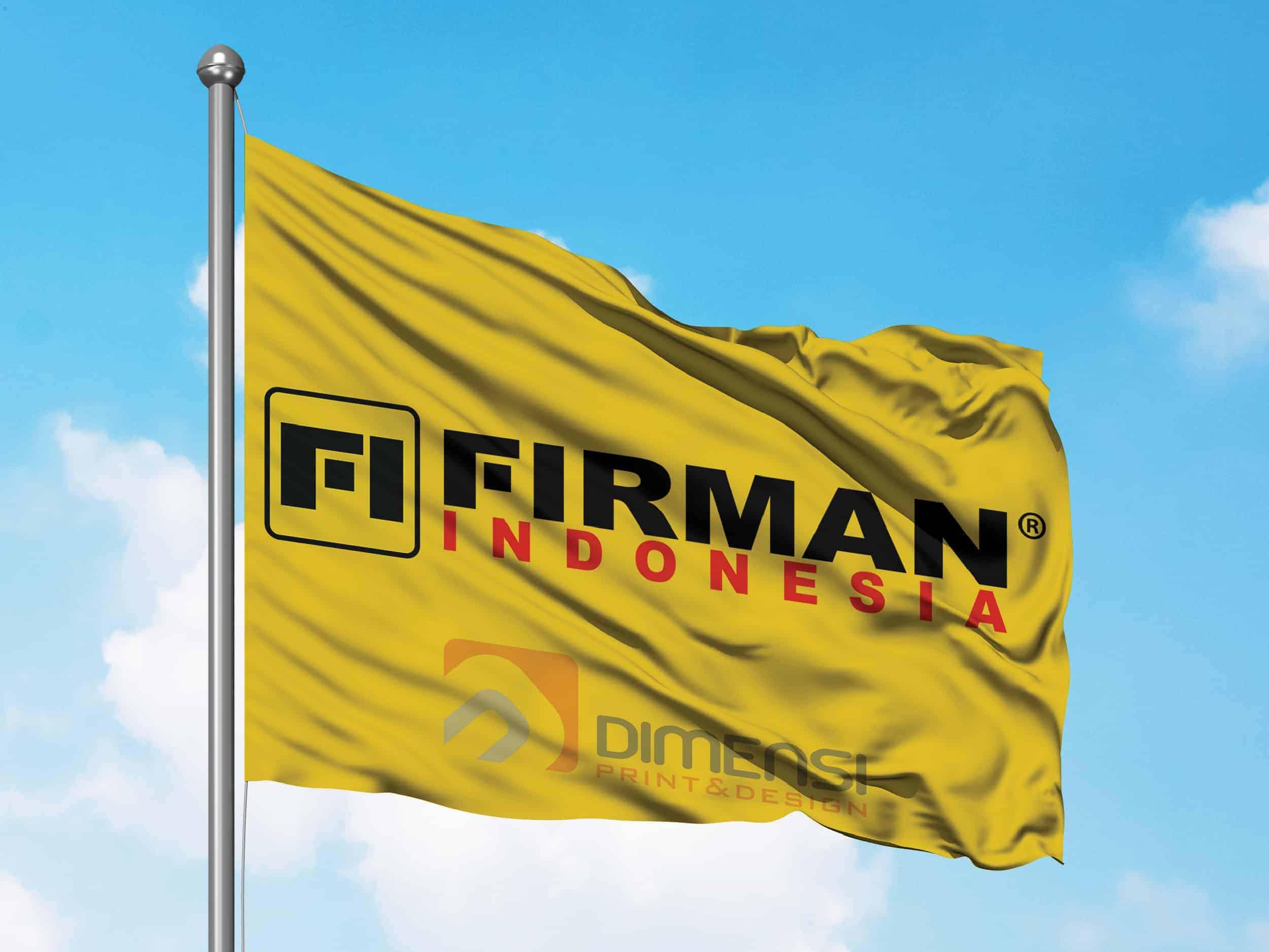 Jasa desain dan cetak bendera online harga murah dan terdekat di Serpong Tangerang Selatan