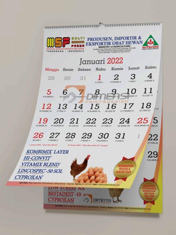 Jasa cetak kalender dinding online murah dan terdekat di Serpong Tangerang Selatan