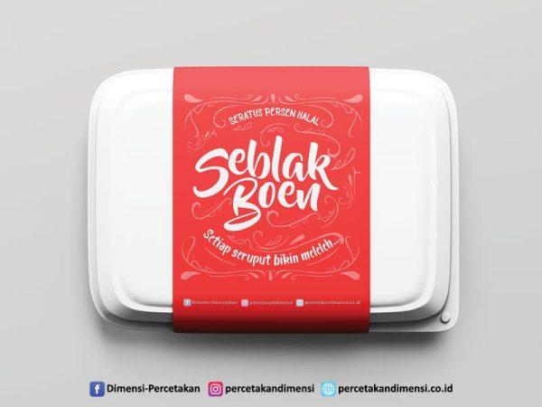 Jasa desain dan cetak label produk kemasan makanan online harga murah dan terdekat di Serpong Tangerang Selatan