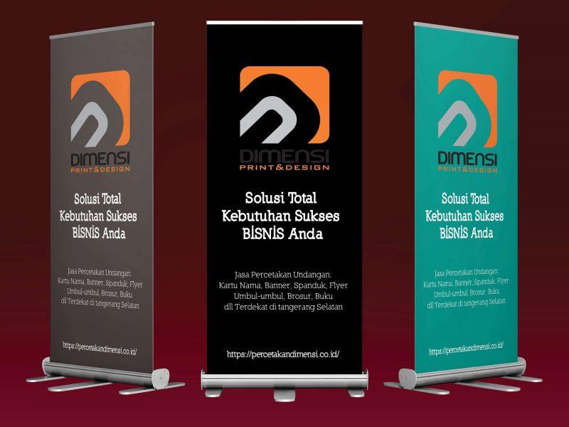 Jasa desain dan cetak roll-up banner online harga murah dan terdekat di Serpong Tangerang Selatan