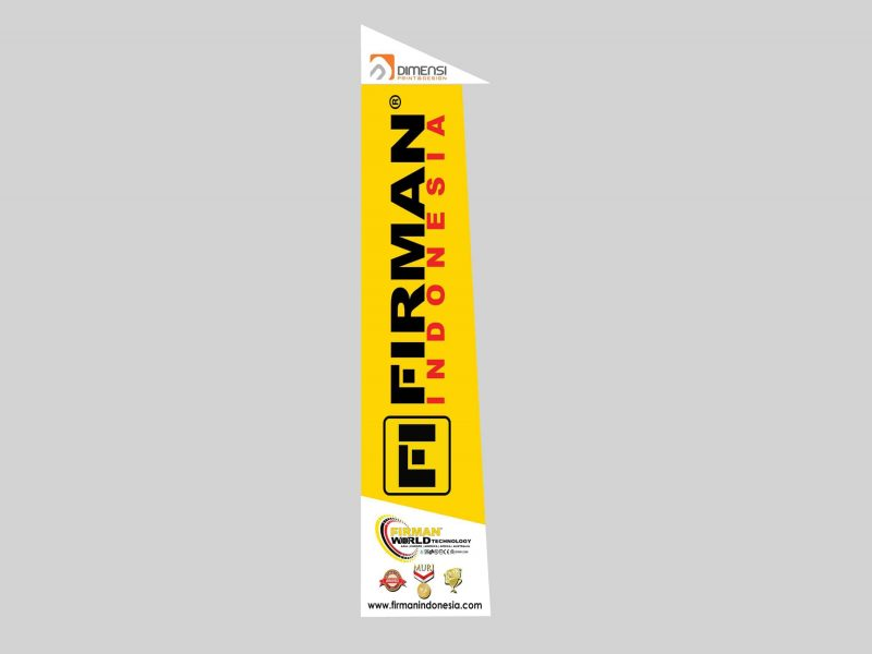 Jasa desain dan cetak Umbul umbul kain online harga murah dan terdekat di Serpong BSD City